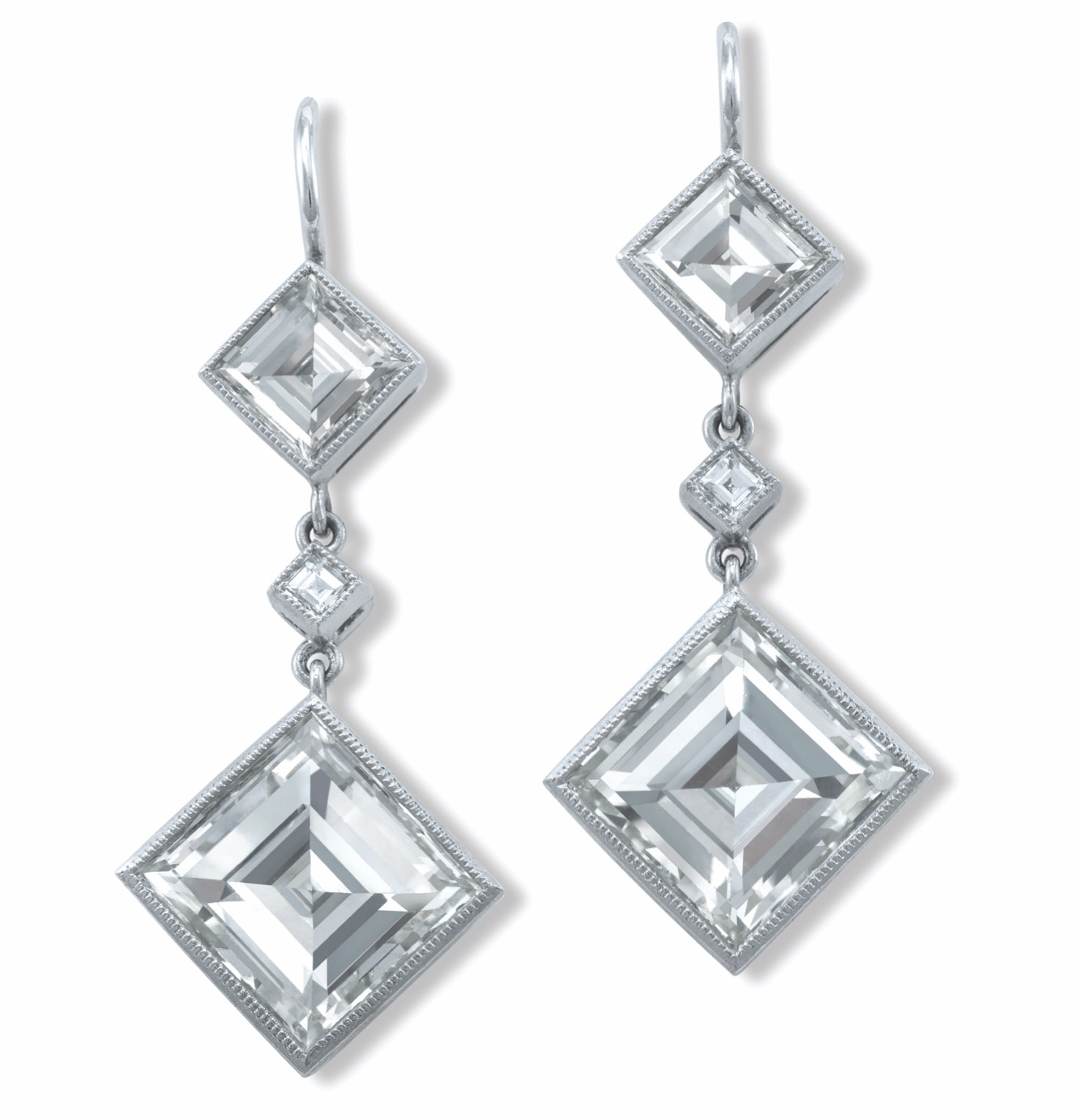 John Buechner diamond drop earrings | JCK On Your Market