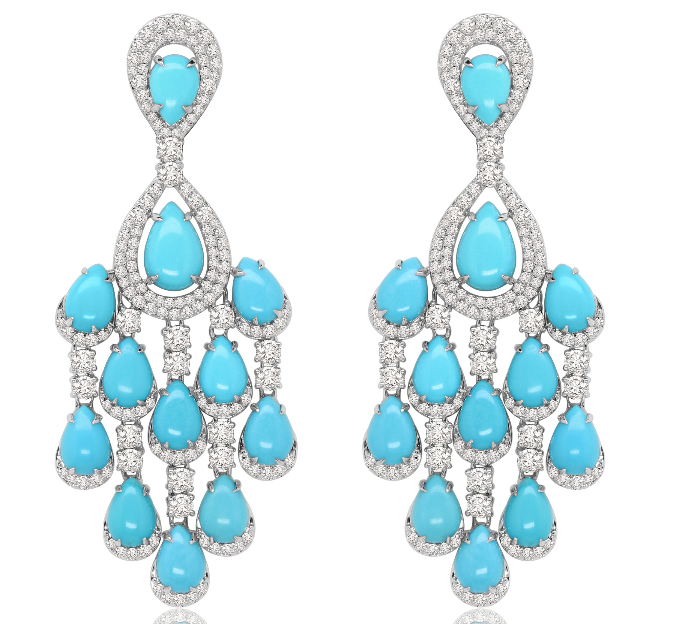 Sutra Turquoise Chandelier Earrings Jck On Your Market