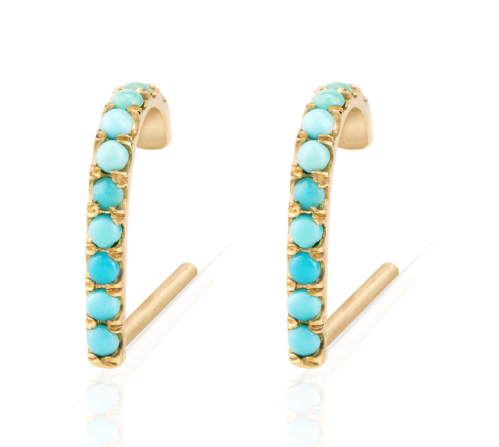 Smith + Mara turquoise Suspender earrings | JCK On Your Market