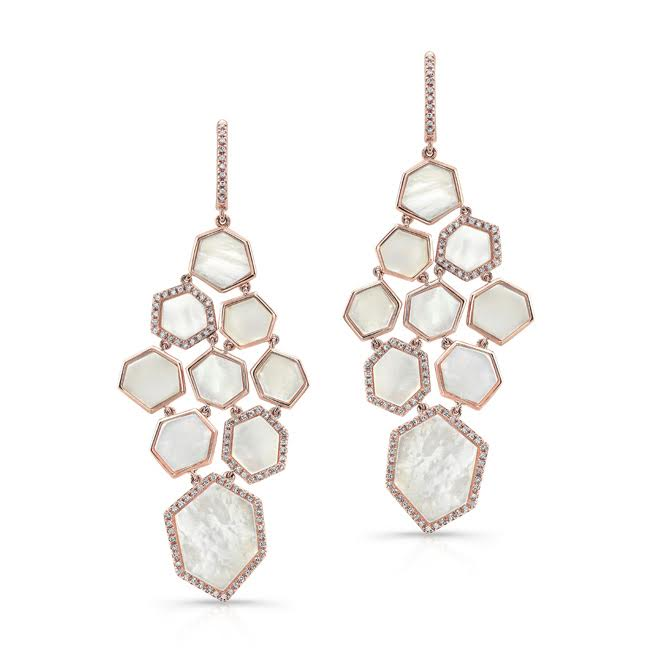Anne Sisteron mother of pearl chandelier earrings | JCK On Your Market