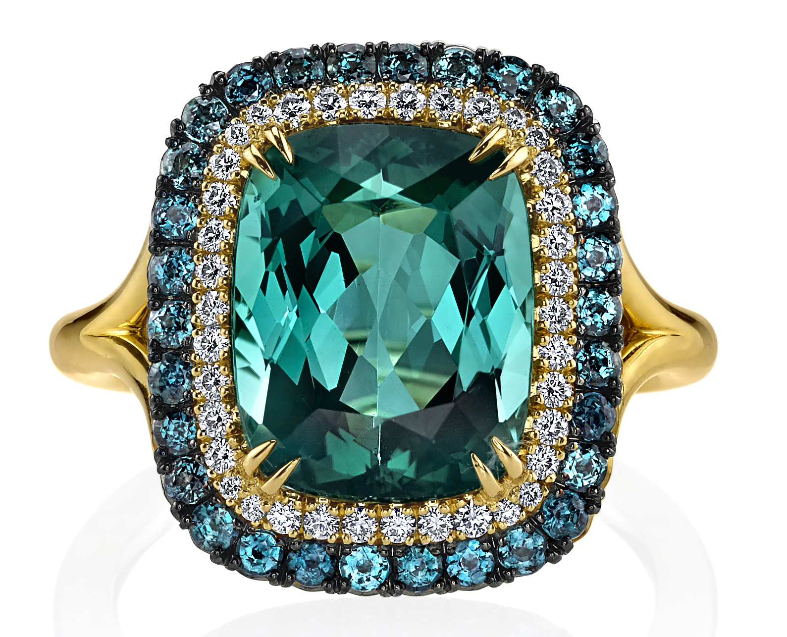 Omi Privé tourmaline Duet ring | JCK On Your Market