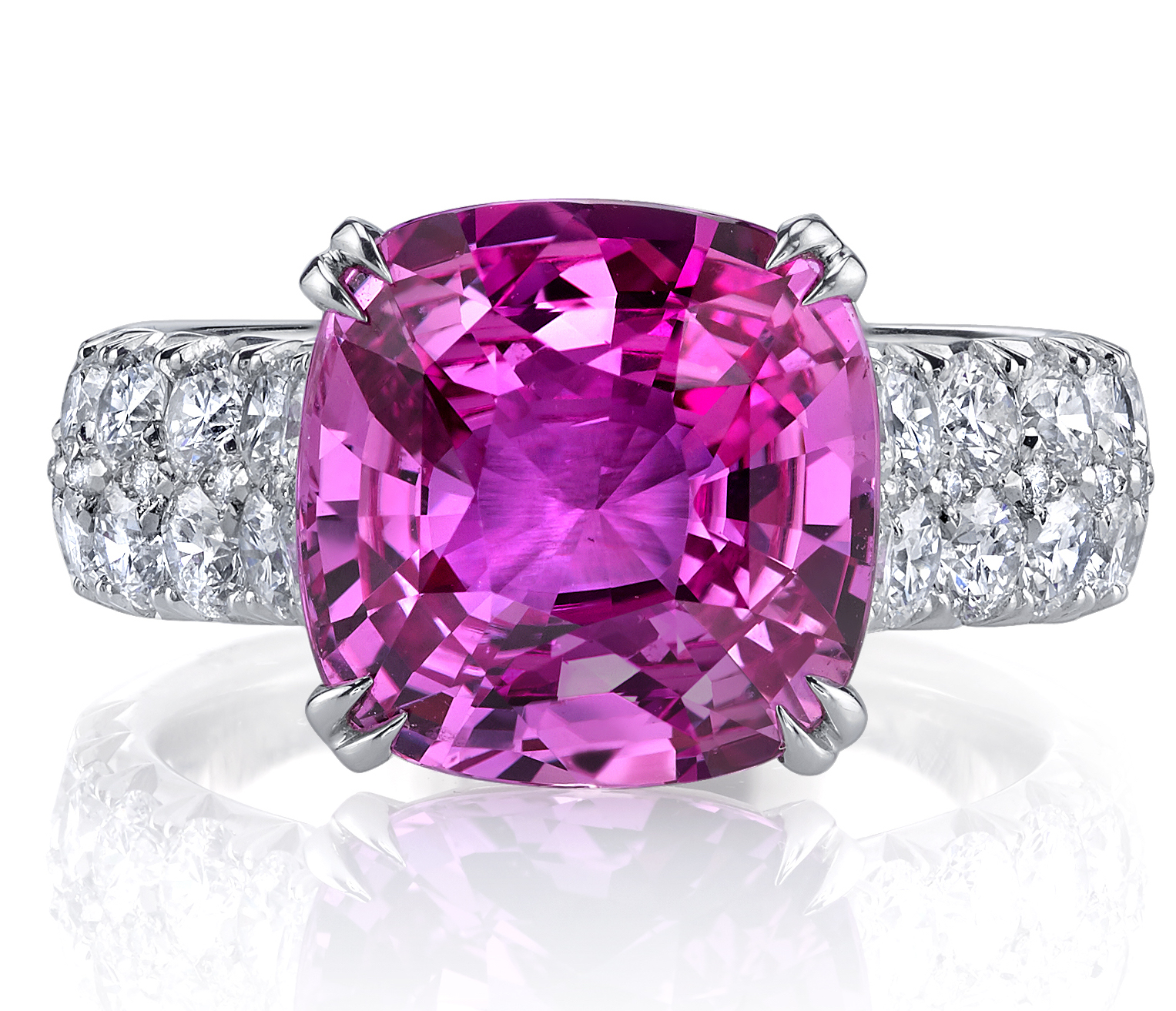 Omi Privé one-of-a-kind pink sapphire ring | JCK On Your Market