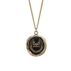 Pyrrha 14k gold Never Look Back talisman necklace