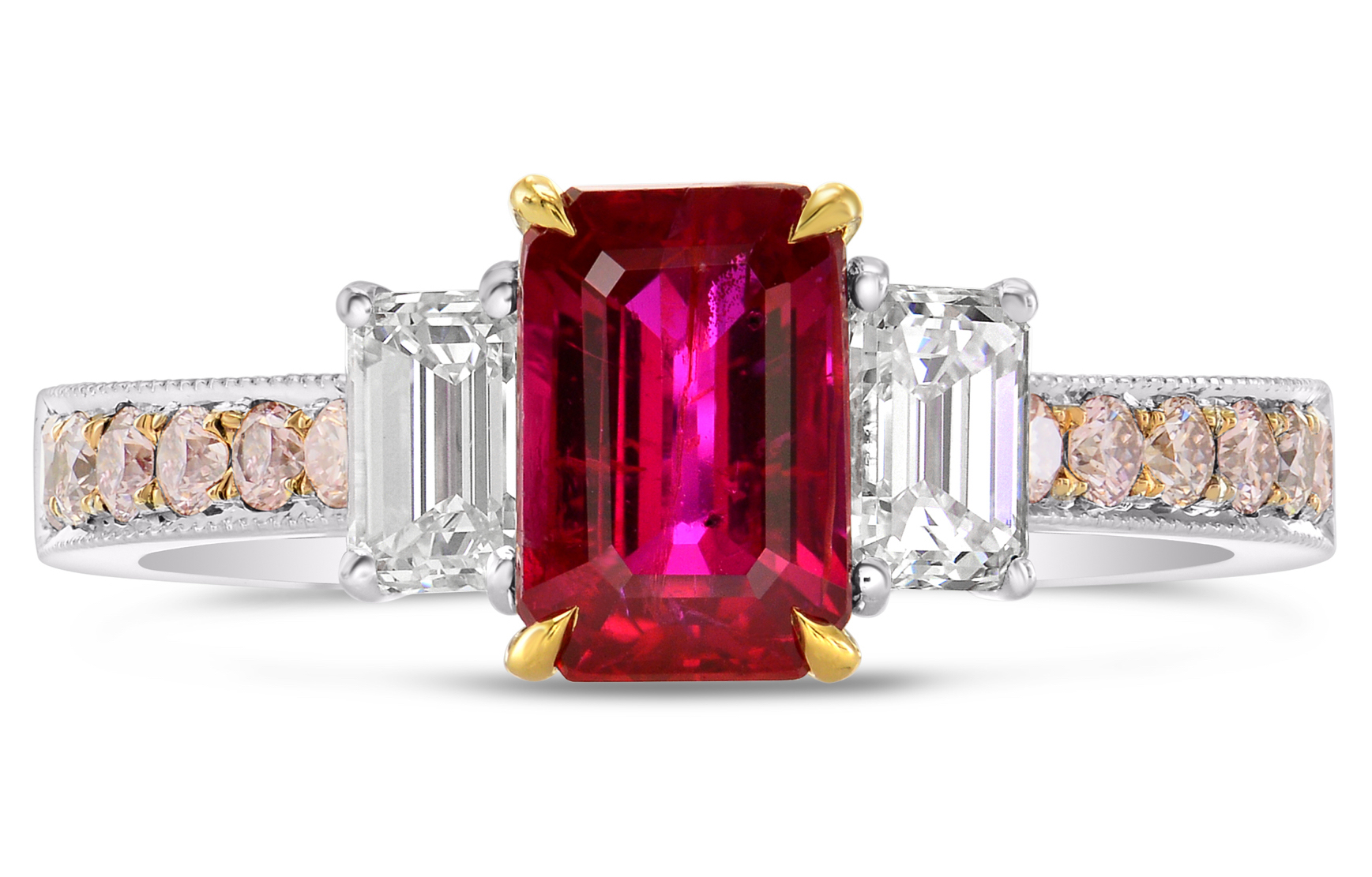 Leibish and Co. ruby and pink diamond ring | JCK On Your Market
