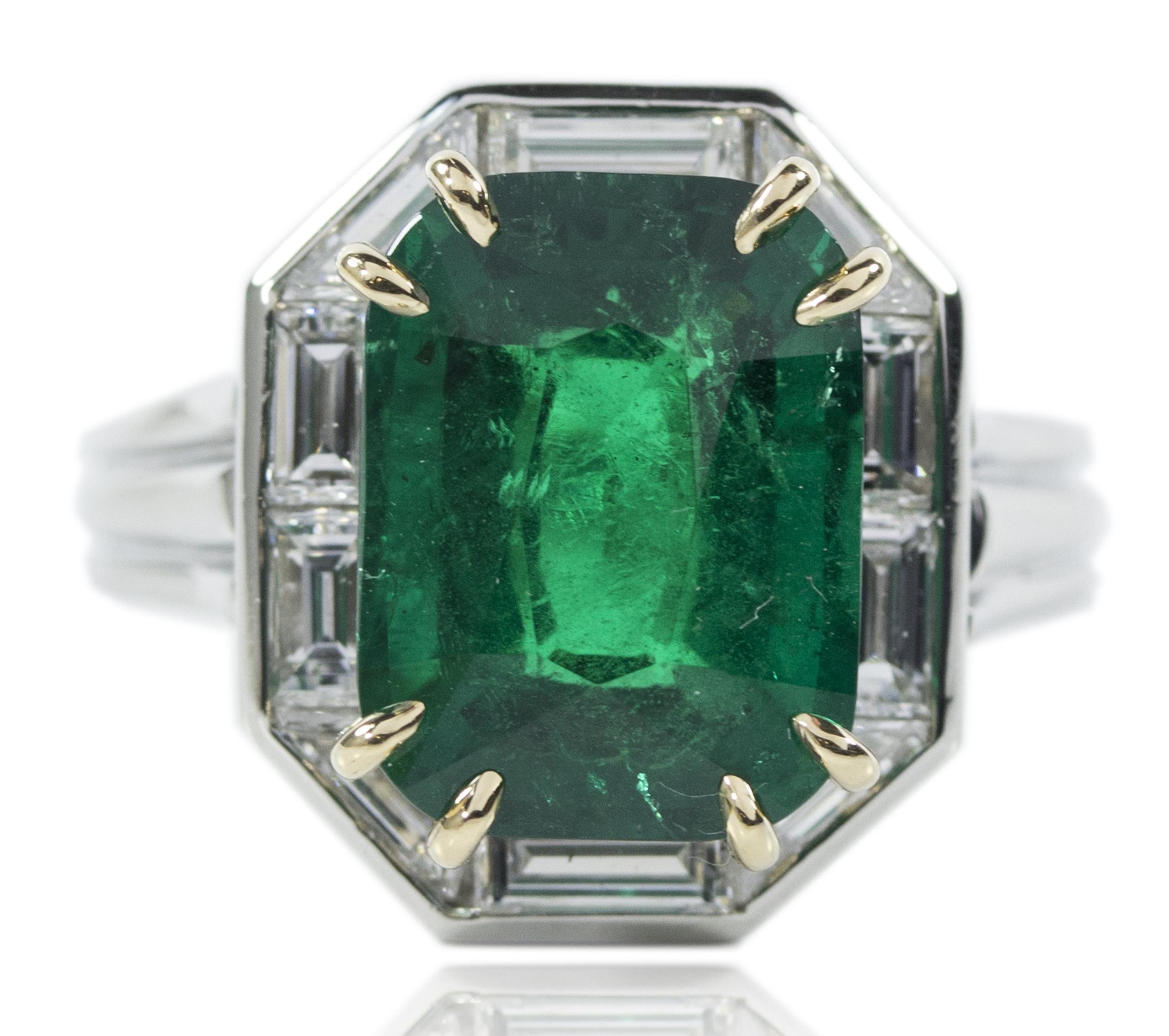 Oscar Heyman platinum emerald ring | JCK On Your Market