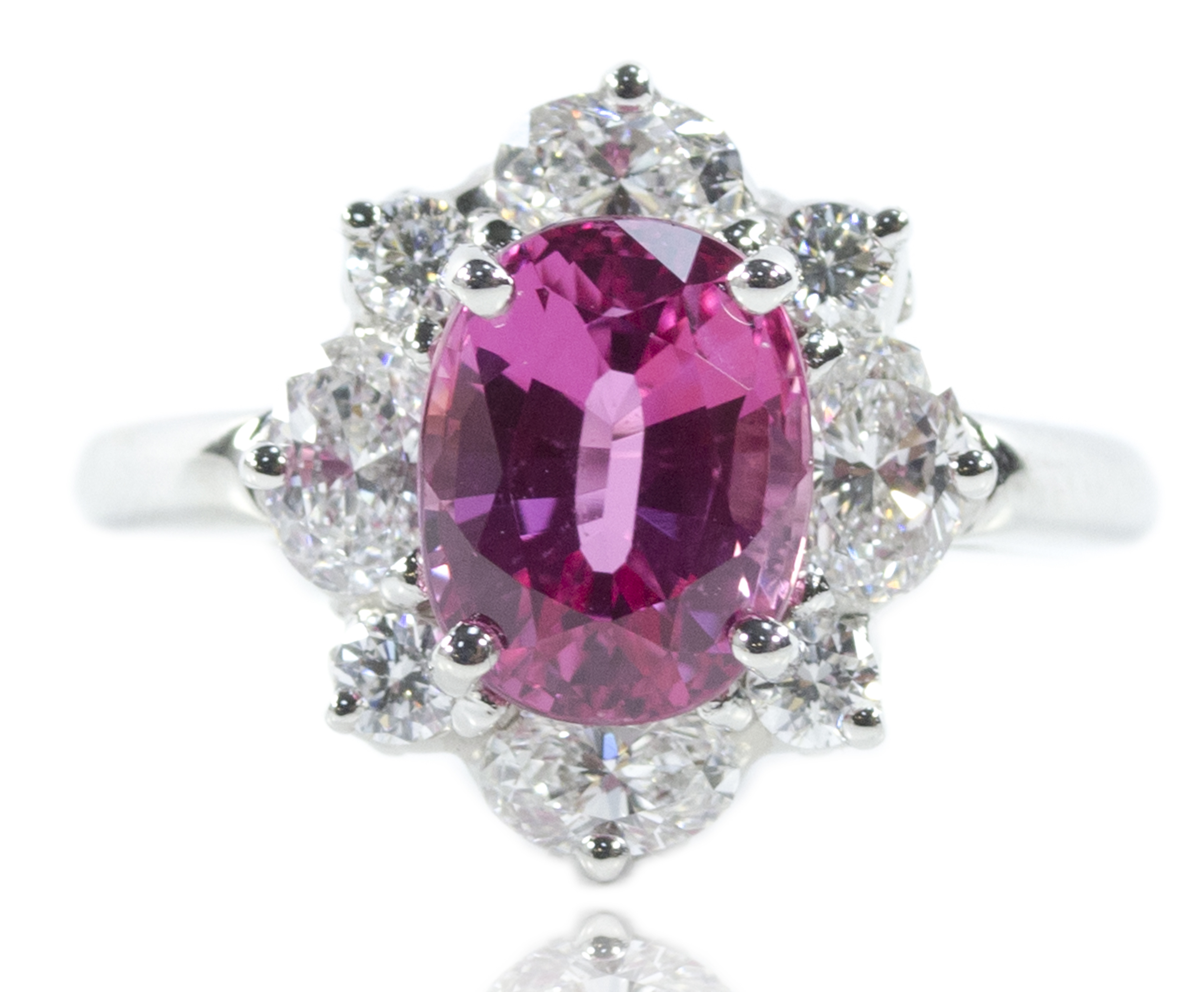 ring michael yorkshire pink bluebell rings product engagement isaac jewellery