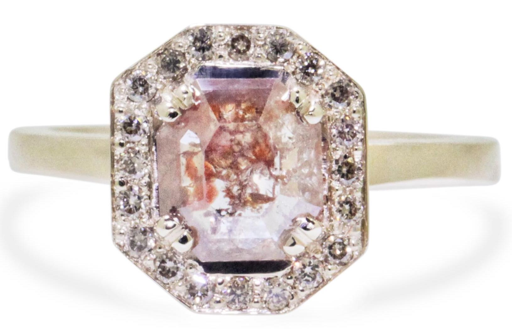 Chinchar Maloney peach diamond Katla ring | JCK On Your Market