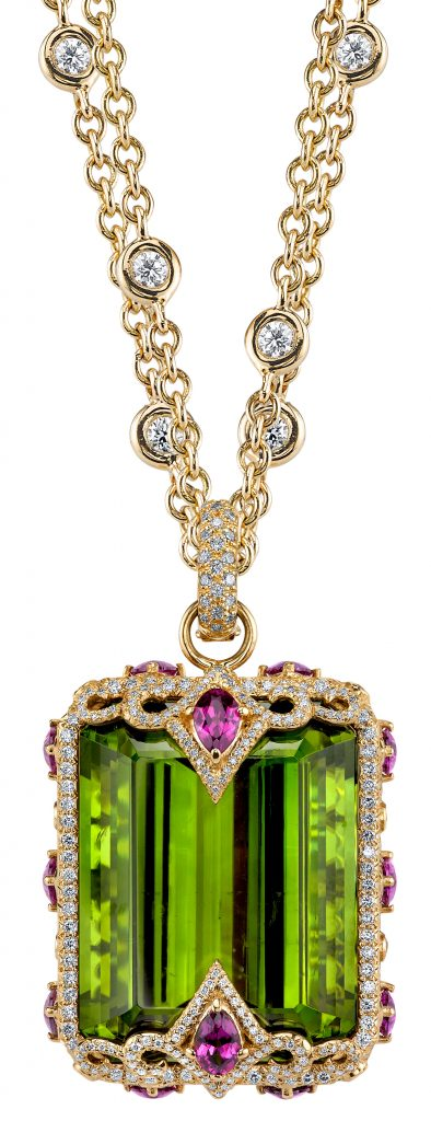 Amazon pendant with peridot
