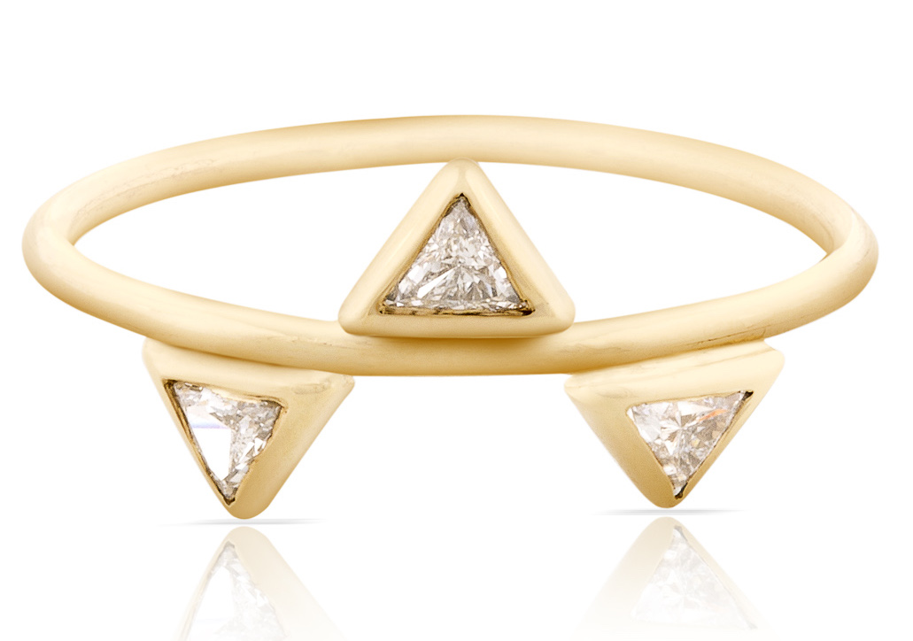 Smith and Mara triple diamond trilliant ring | JCK On Your Market