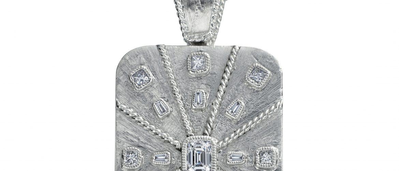 Daniel Bass emerald-cut diamond dog tag   JCK On Your Market