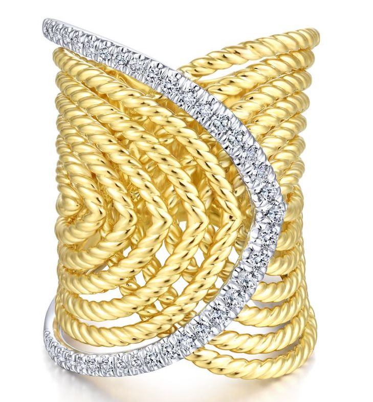 Gabriel and Co. wide rope ring | JCK On Your Market