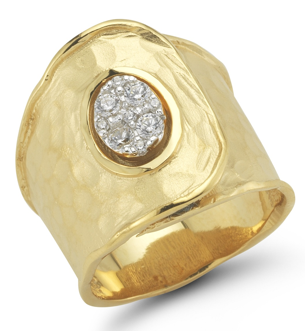 I. Reiss gold and diamond ring