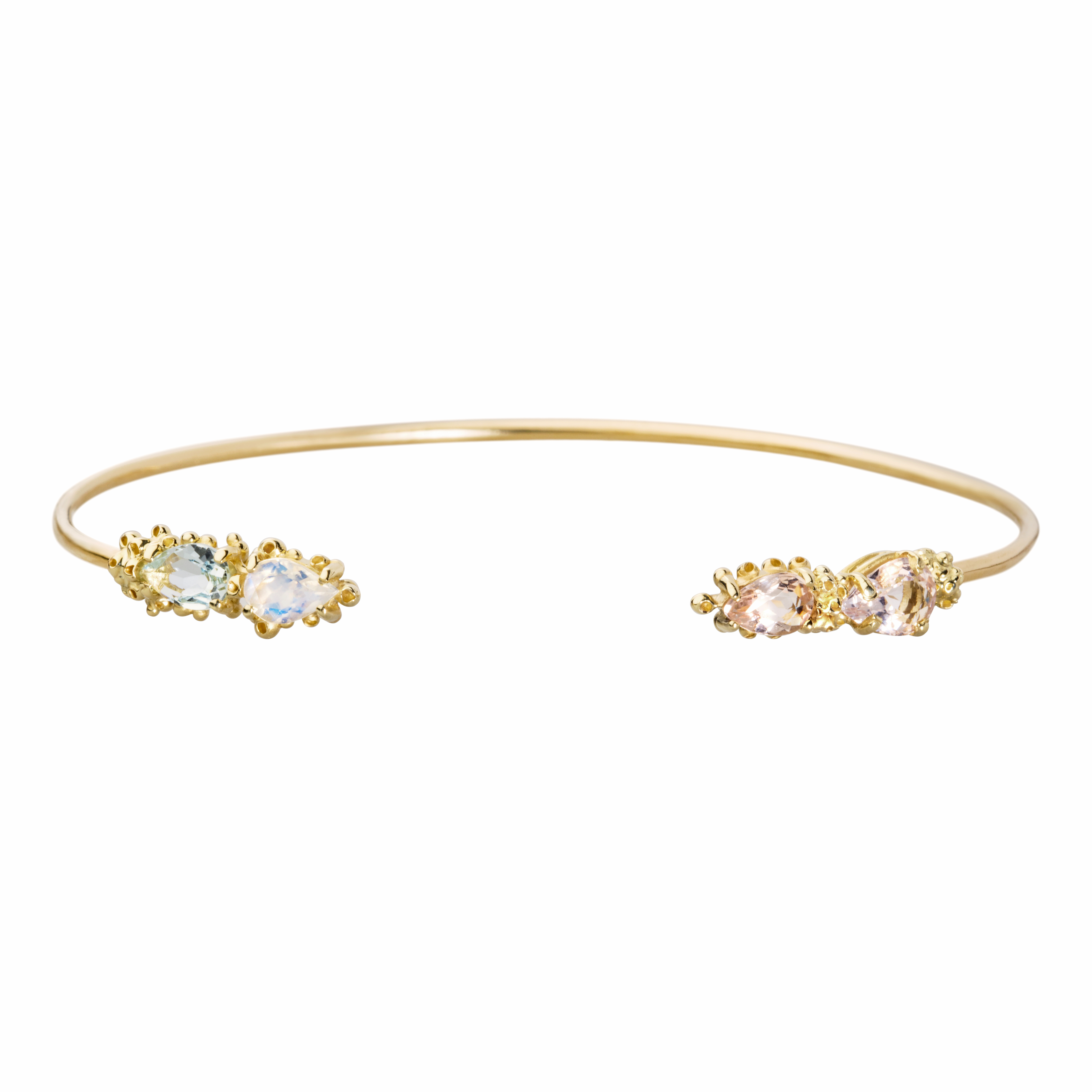 92b52aa69 Mini Throne Cuff with white topaz and pavé diamonds in 14k yellow gold,  $925; Anne Sisteron