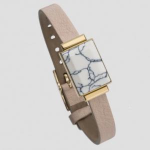 Ringly smart bracelet in marbled white