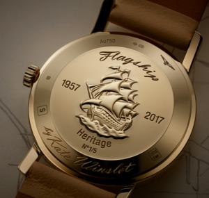 Kate Winslet watch back with signature and sailing ship