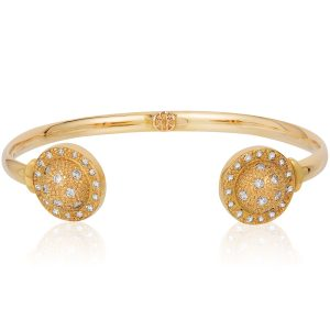 Onirikka gold bangle with diamonds