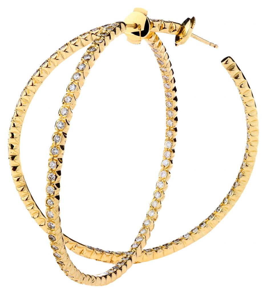 Jara yellow gold hoops