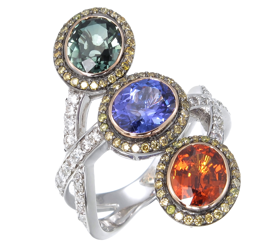 Zorab Atelier three stone ring