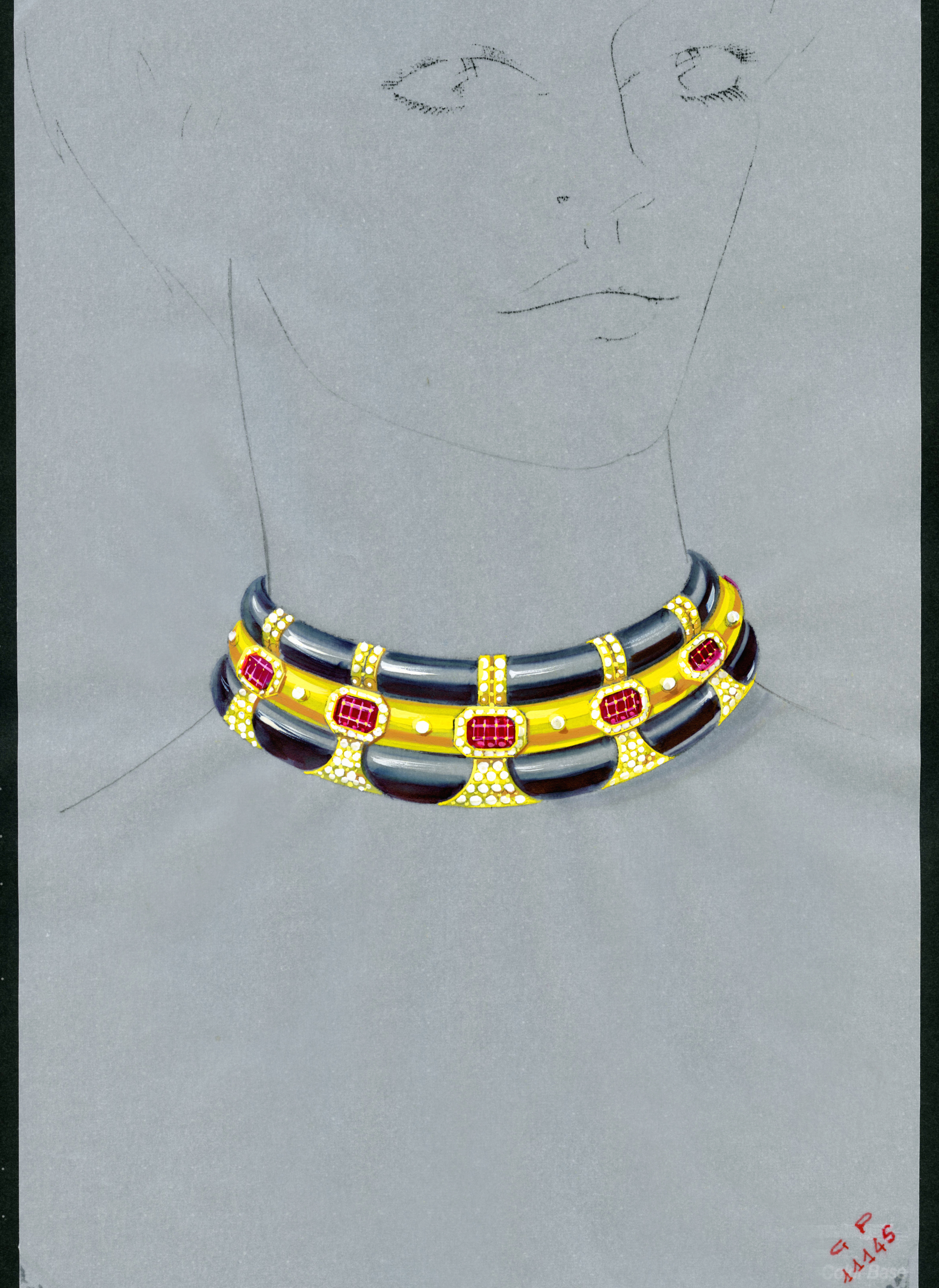 Neo Art Deco Collection choker