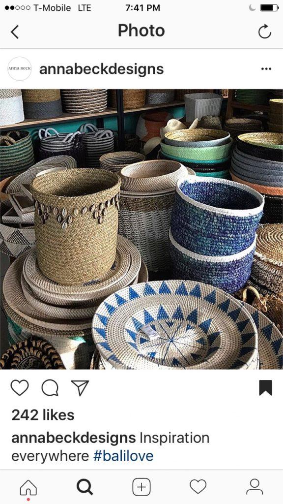 Anna Beck instagram Bali love