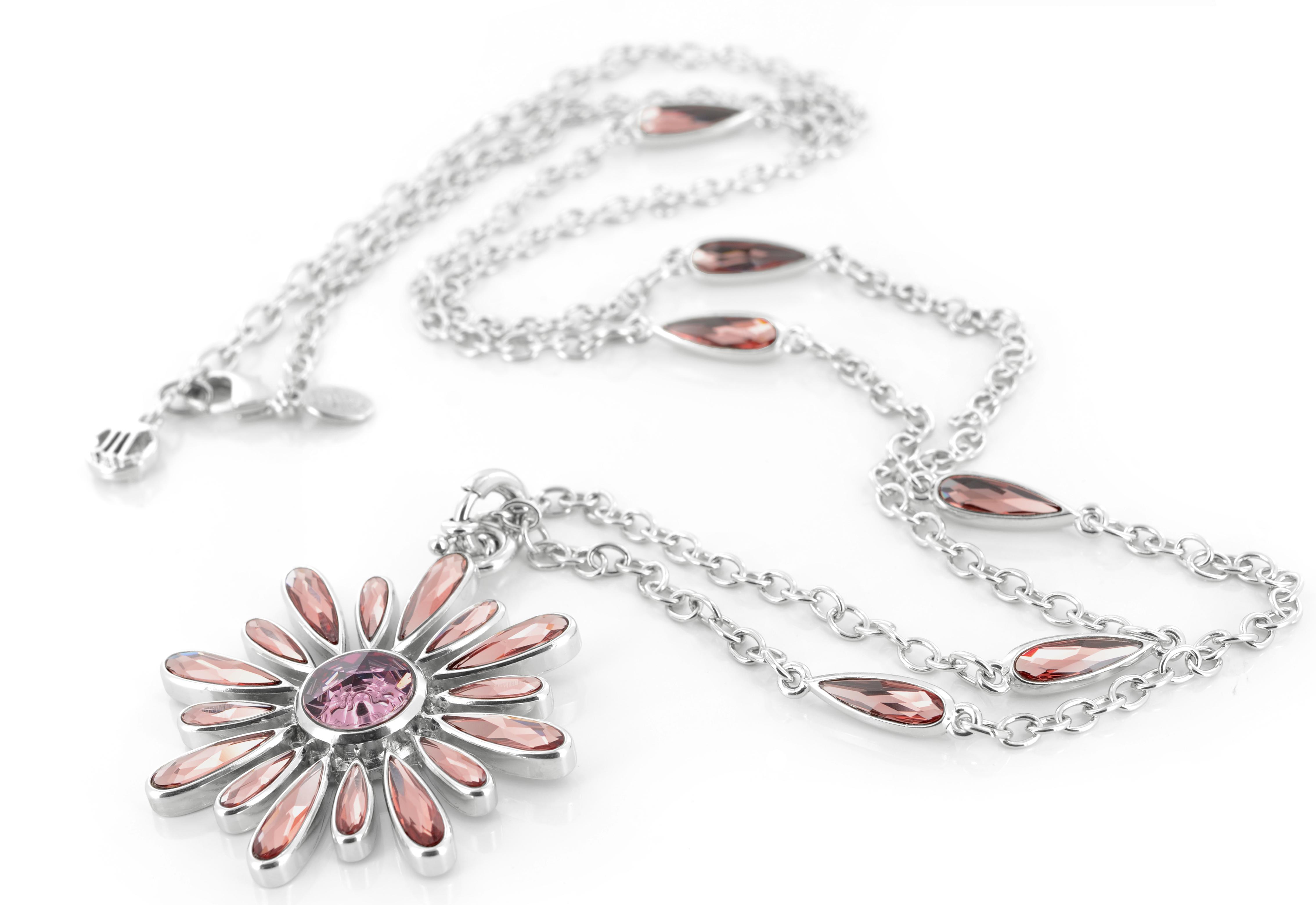 Myka silver flower necklace
