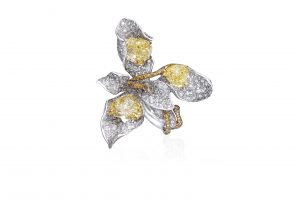 Cindy Chao Four Seasons yellow diamond floral ring