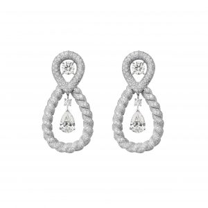 Endless Knot diamond earrings from Chanel's Flying Cloud collection