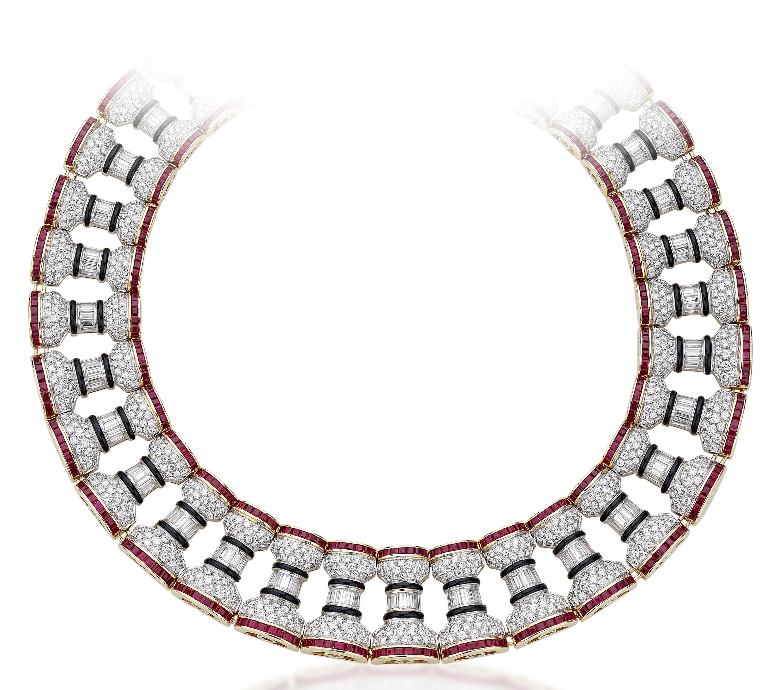 1980s La Colonna Romana necklace