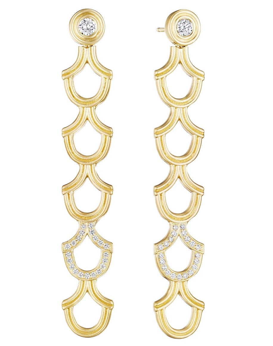 Doryn Wallach Normandie long scale earrings | JCK On Your Market