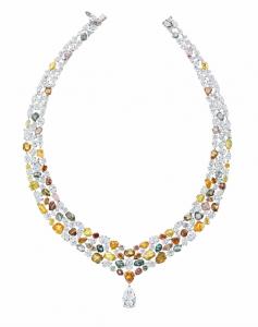Lotus by De Beers diamond collar