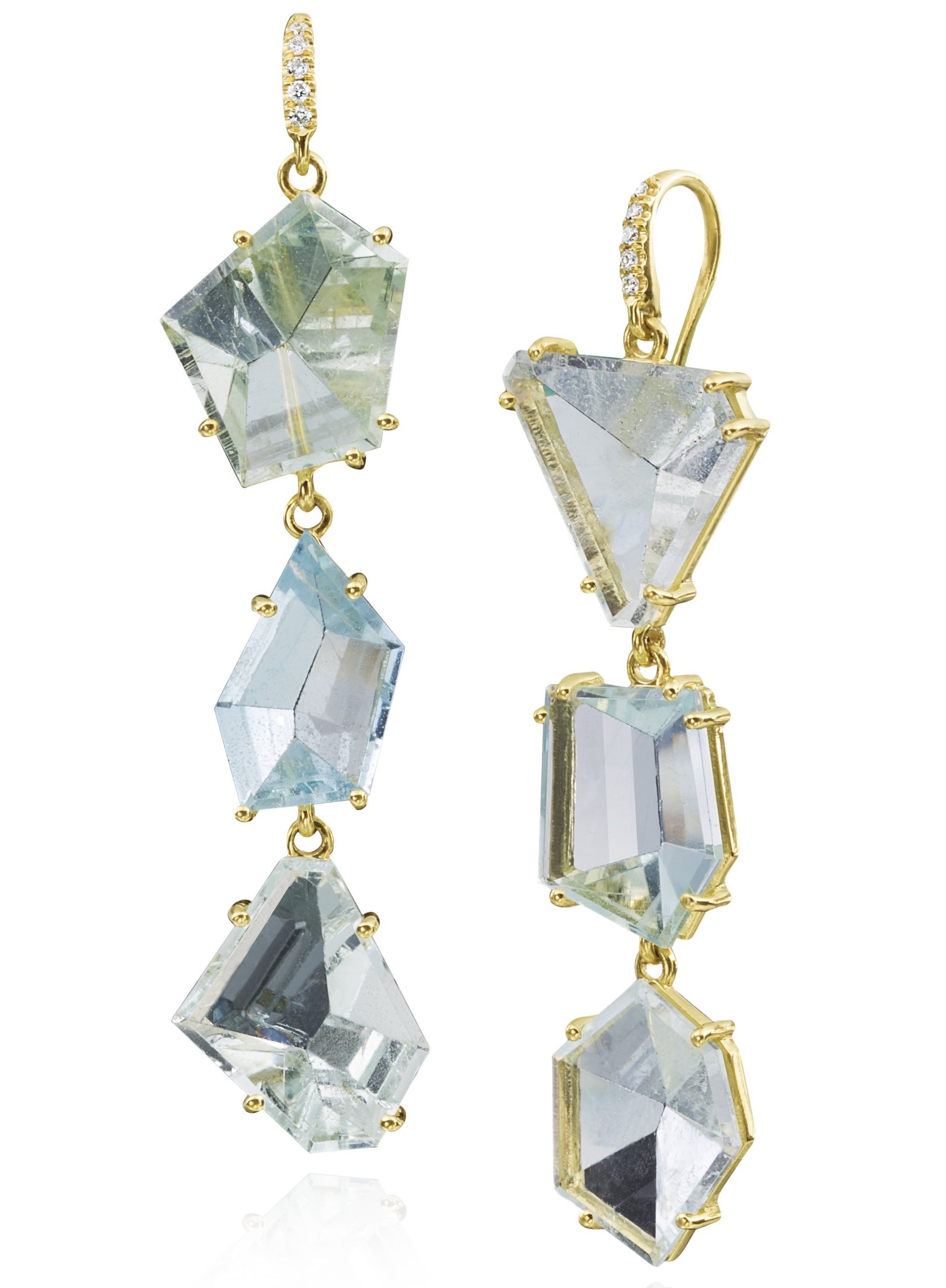 Lauren K aquamarine Joyce earrings