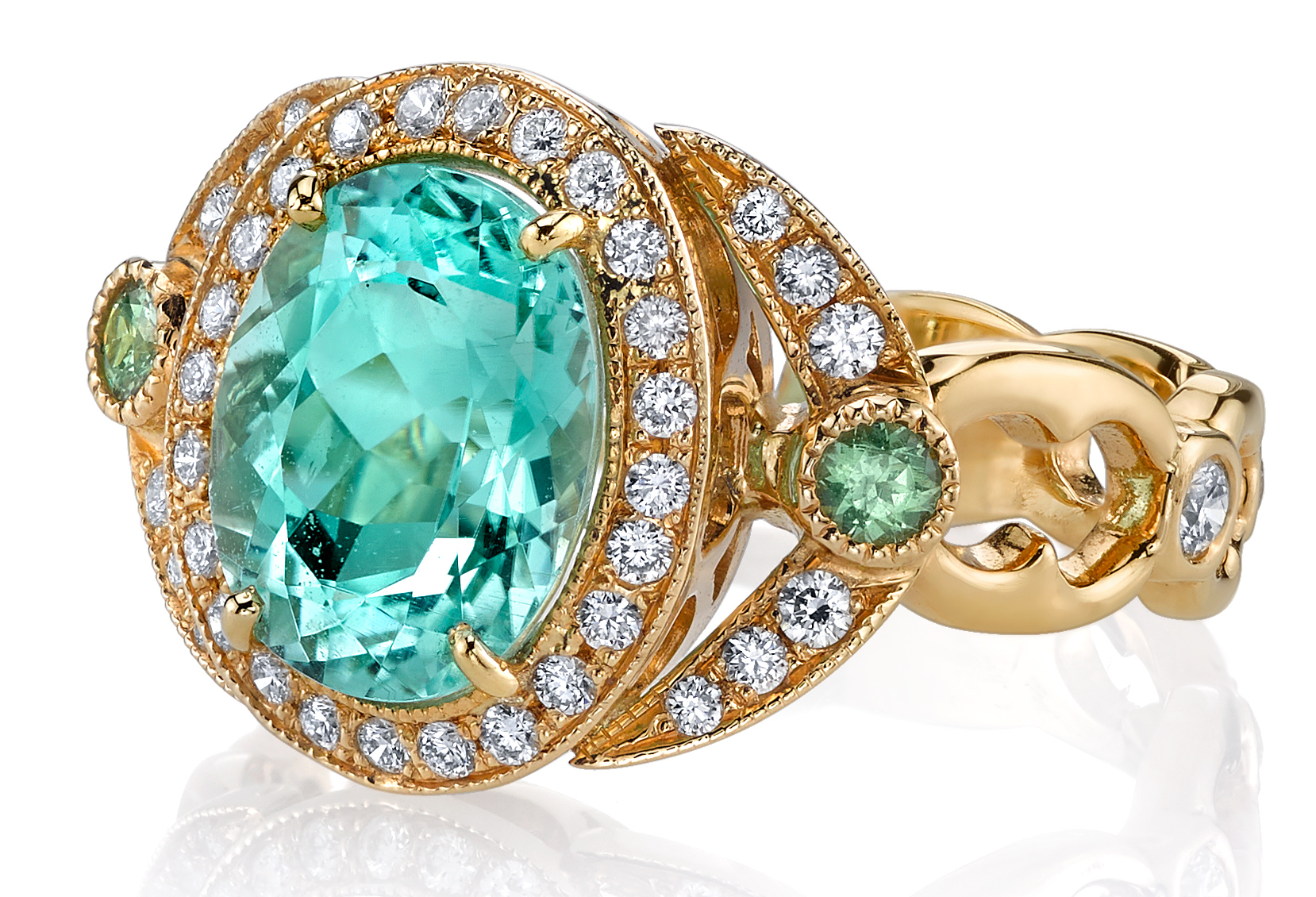 Erica Courtney Eva ring in paraiba | JCK On Your Market