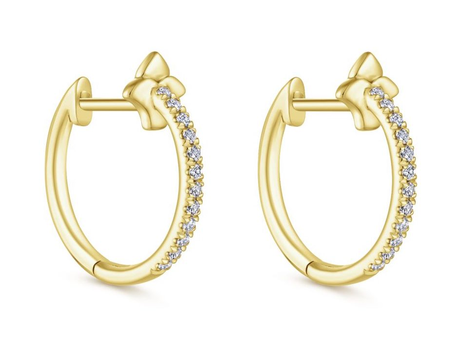 Gabriel and Co. diamond huggie earrings
