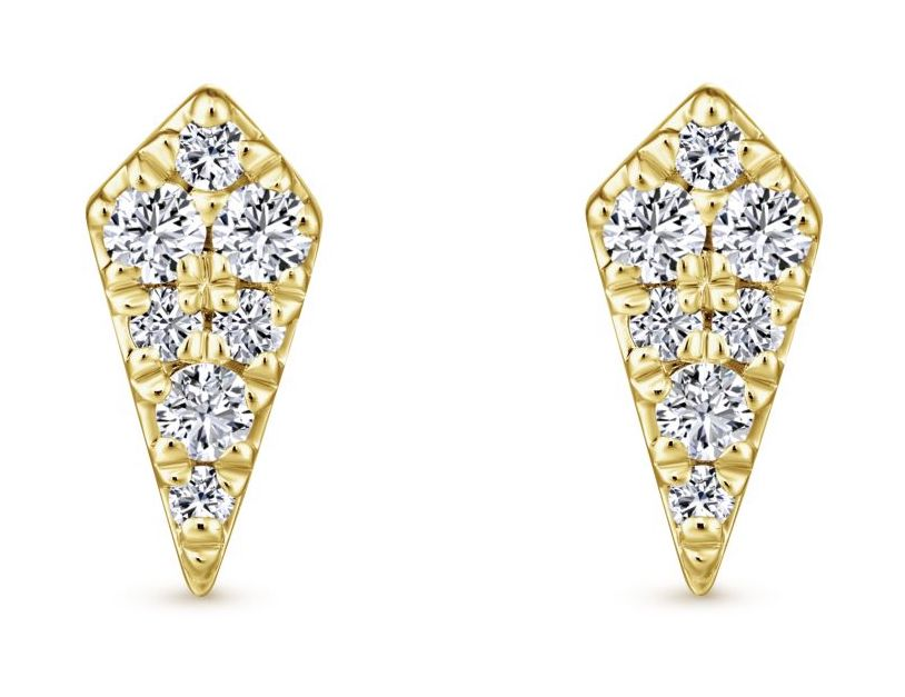 Gabriel and Co. diamond stud earrings