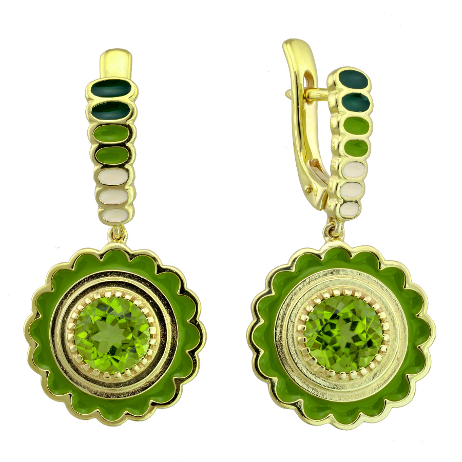 Drukker peridot earrings | JCK On Your Market