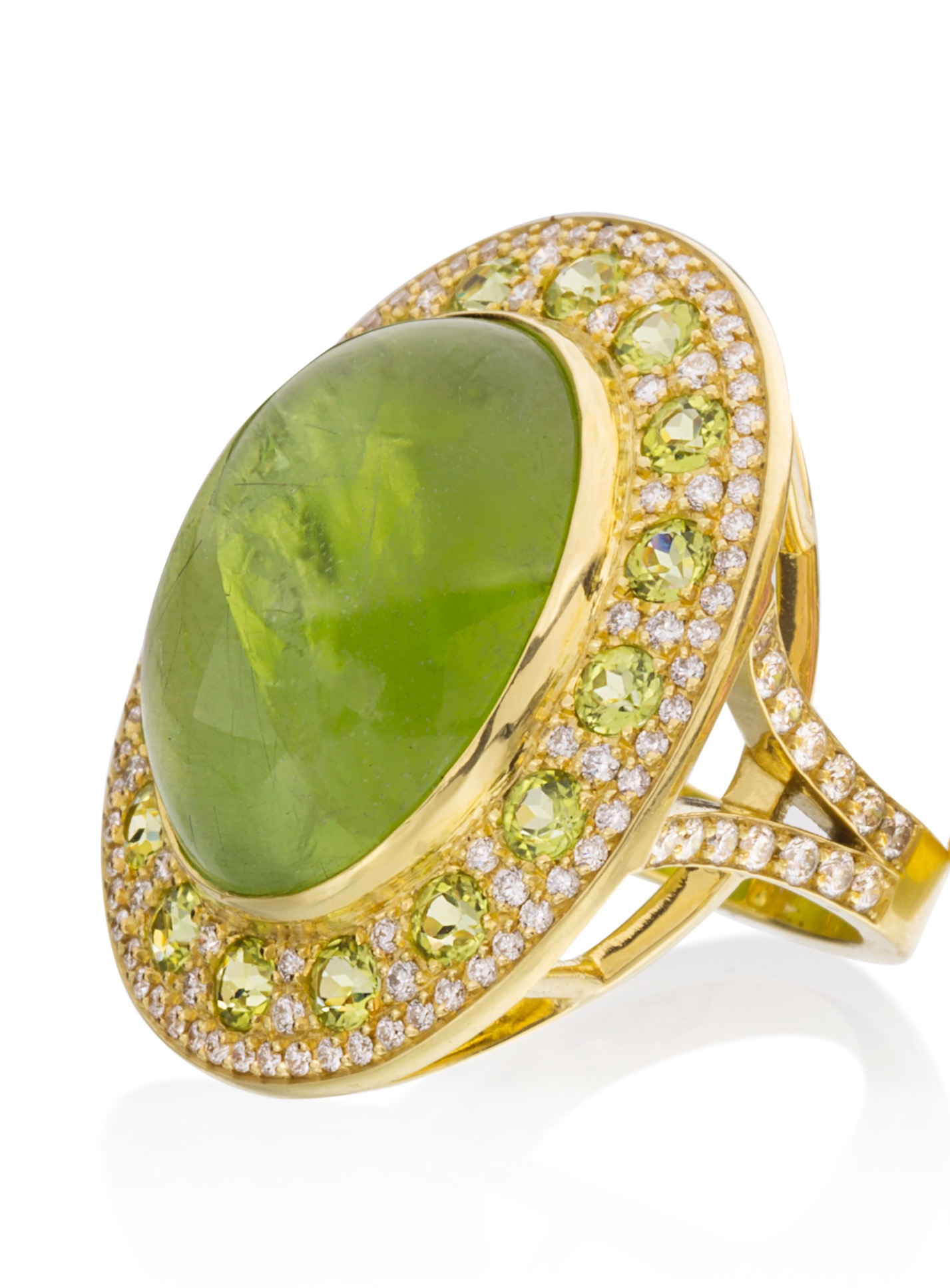 Lauren K cabochon peridot Diva ring | JCK On Your Market