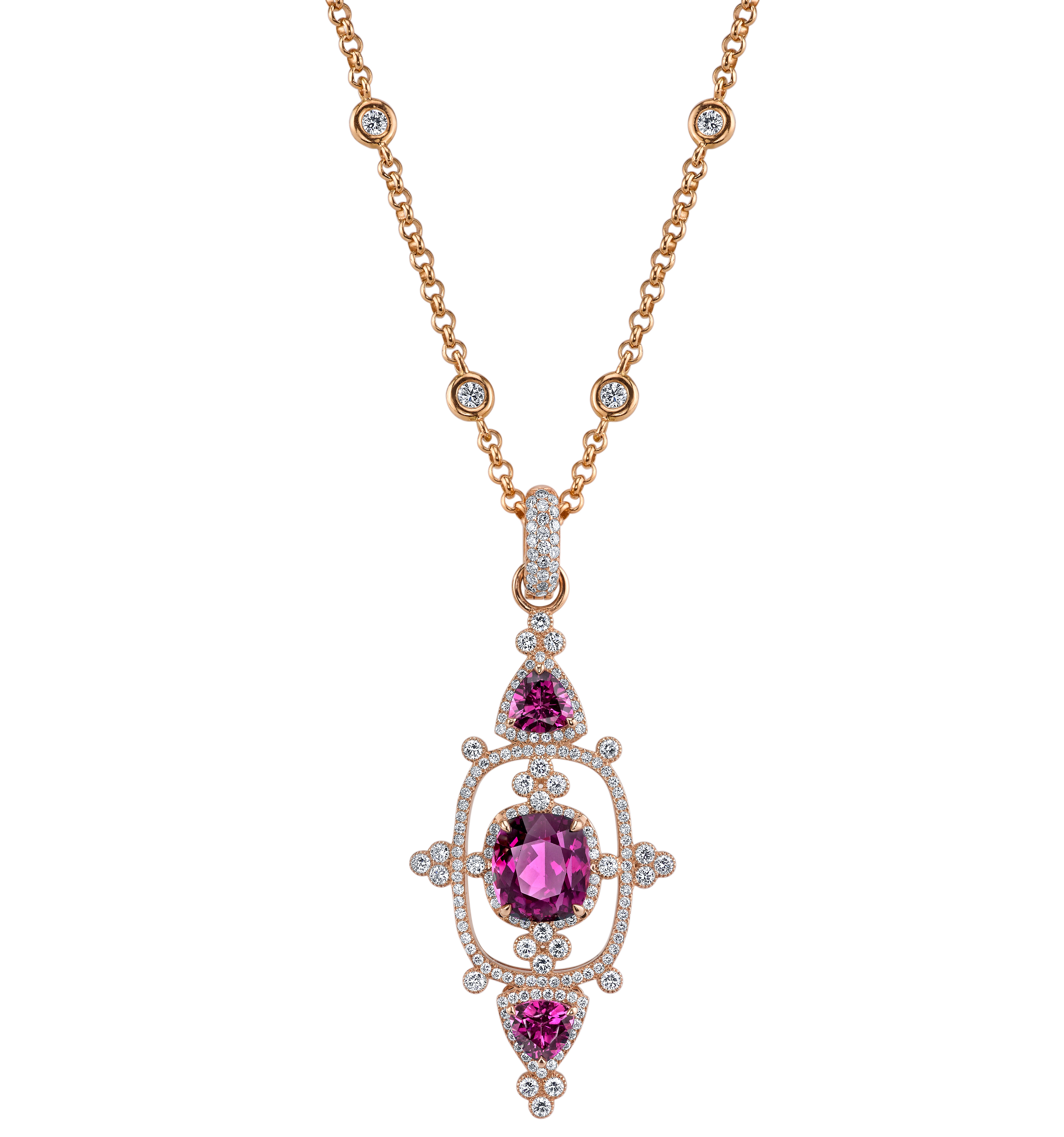 Erica Courtney Interstellar pendant in Purple Garnet | JCK On Your Market