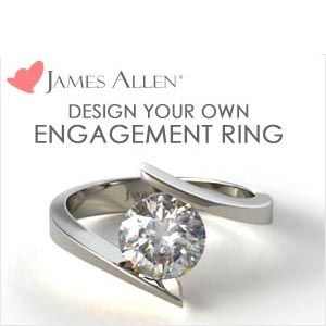 James Allen branded engagement ring
