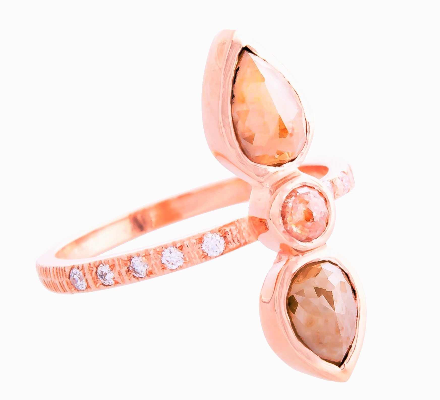 Nymph ring in 14k rose gold