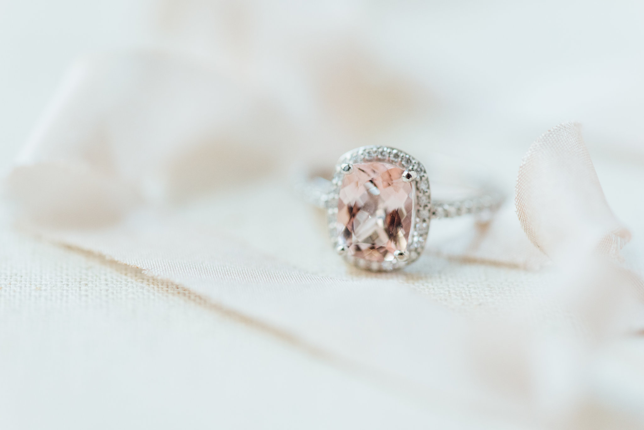 Morganite ring nontraditional yet feminine