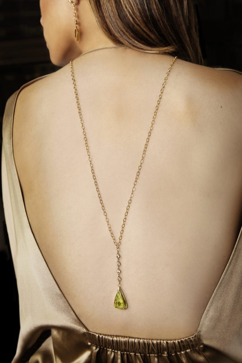 Jennifer Dawes necklace with Csarite drops and pendant