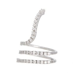 Mattia Cielo coiled white gold diamond ring