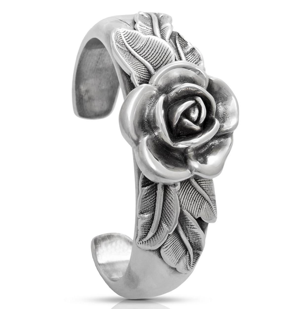 Paz Creations rose cuff bracelet
