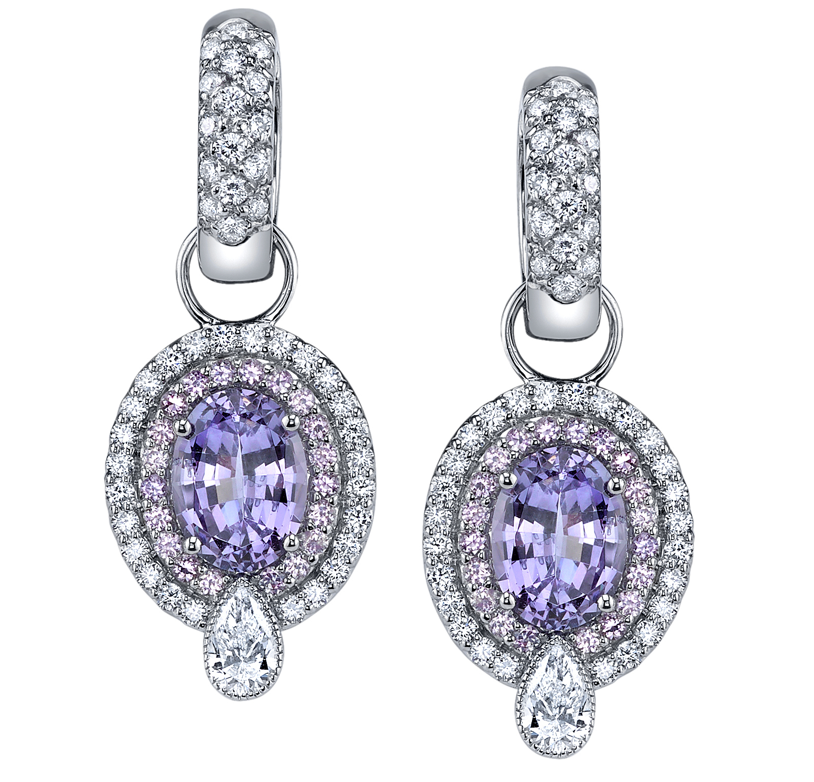 Erica Courtney Pia earrings in lavender Spinel | JCK On Your Market