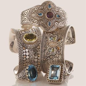 Cuffs from the Samuel B Royal Bali Collection