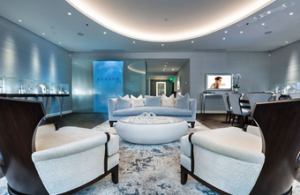 Lounge of the Lugano Diamonds Salon in Aspen