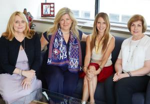 Lagos VPs Diana Nichols, Isabelle Scarchilli, Amanda Willinger, and Kathy Cope