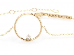 Prong-set diamond circle bracelet