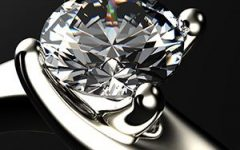 Stock Diamonds single diamond set in ring