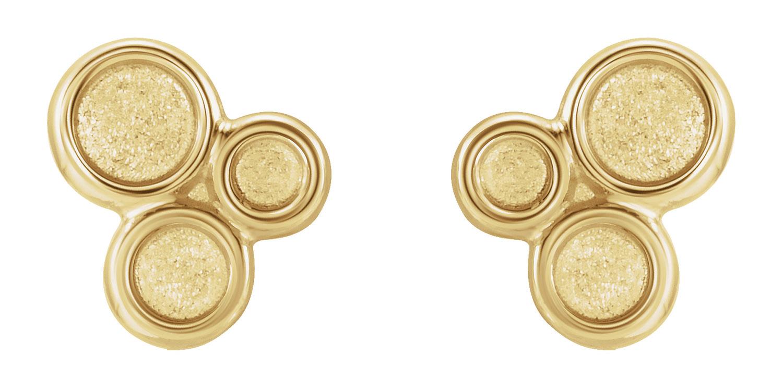 Geometric earrings yellow gold